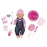 Кукла Baby Born Джинсовый стиль 43 см Zapf 826157 (Мягкотелая - Нежные объятия), фото 1