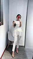 Костюм в стиле Dior брючный белый нарядный, фото 1