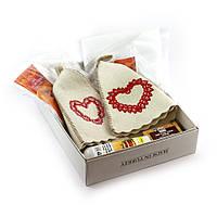 Подарочный набор для сауны №3 Сердца, парный