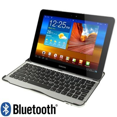 Ультра тонкая алюминиевая Bluetooth клавиатура для Samsung Galaxy Tab 10.1 P7510 P7500