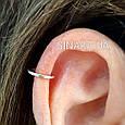 Серебряная серьга обманка в нос Кольцо - Пирсинг обманка в нос кольцо - Серебряная Каффа в ухо кольцо обманка, фото 4