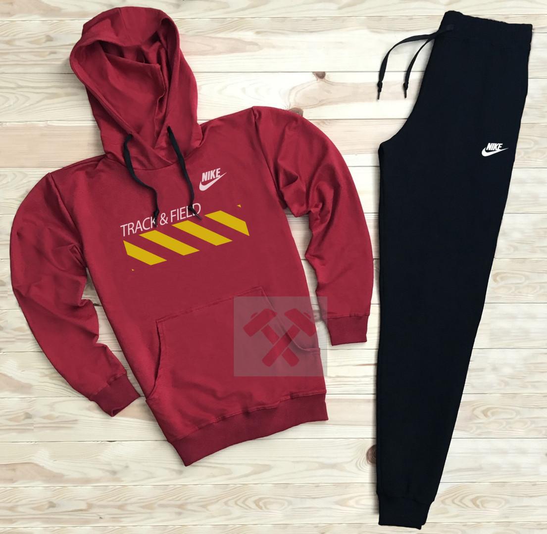 Костюм спортивный Nike красно-черный топ реплика