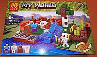 Конструктор Lele 33184 Minecraft Майнкрафт Ферма с водопадом 267 деталей, фото 1