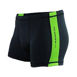 Плавки мужские для купания Radical Shoal  черный (зеленая строчка) (Польша) r4132