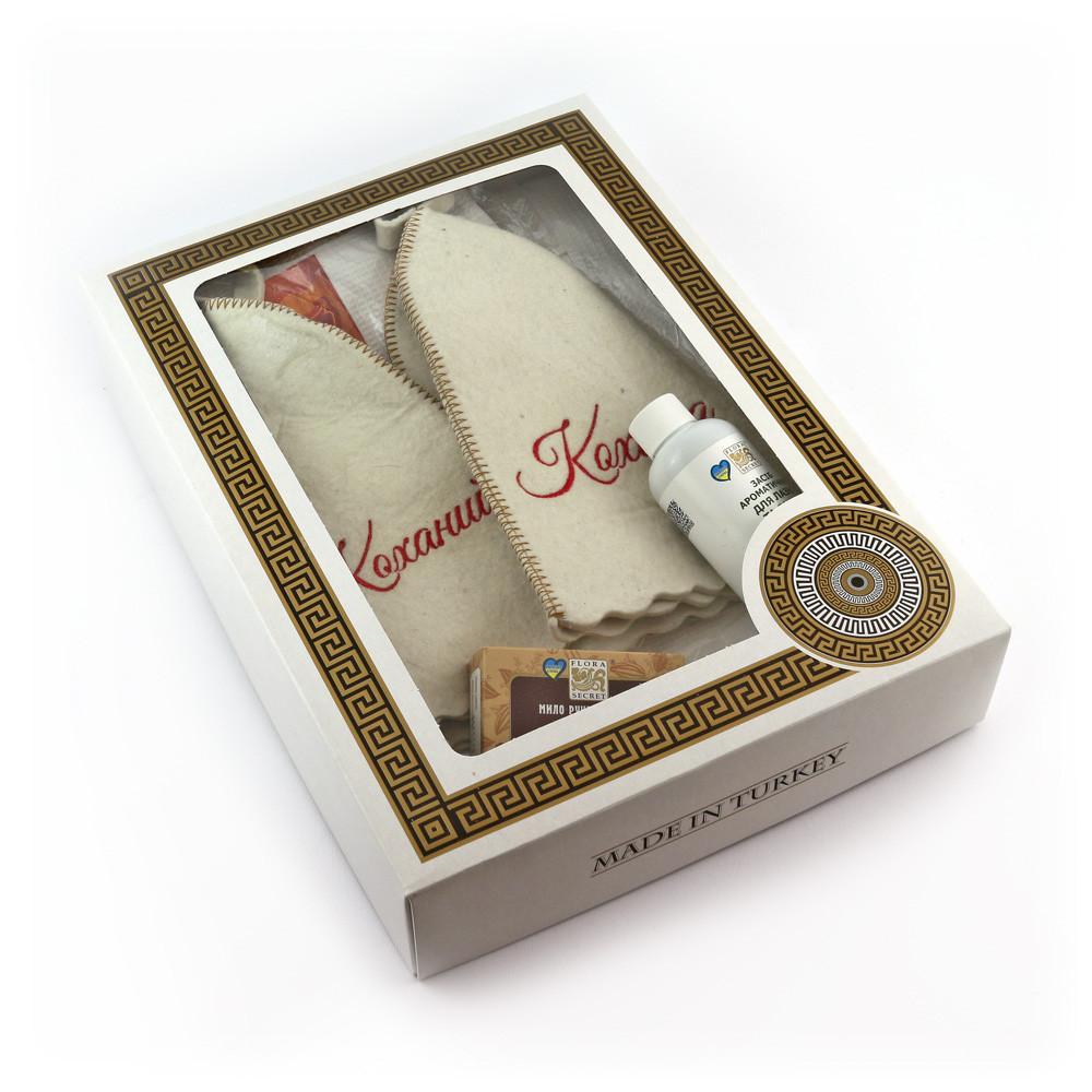 Подарочный набор для сауны №3 Коханый та кохана, парный