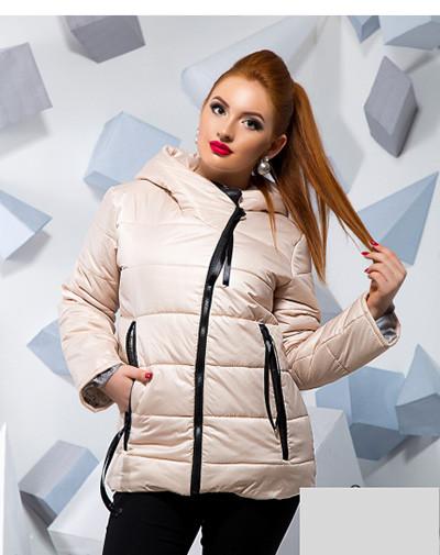 Осеняя куртка-косуха большого размера 815788