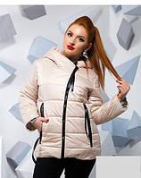 Осеняя куртка-косуха большого размера 815788, фото 1