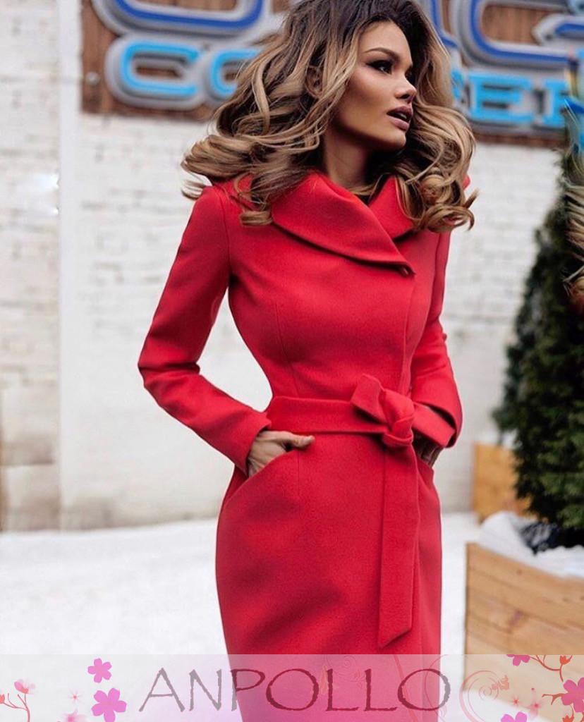 983f85afe9f Женское осеннее кашемировое пальто с капюшоном - Интернет-магазин одежды и  обуви