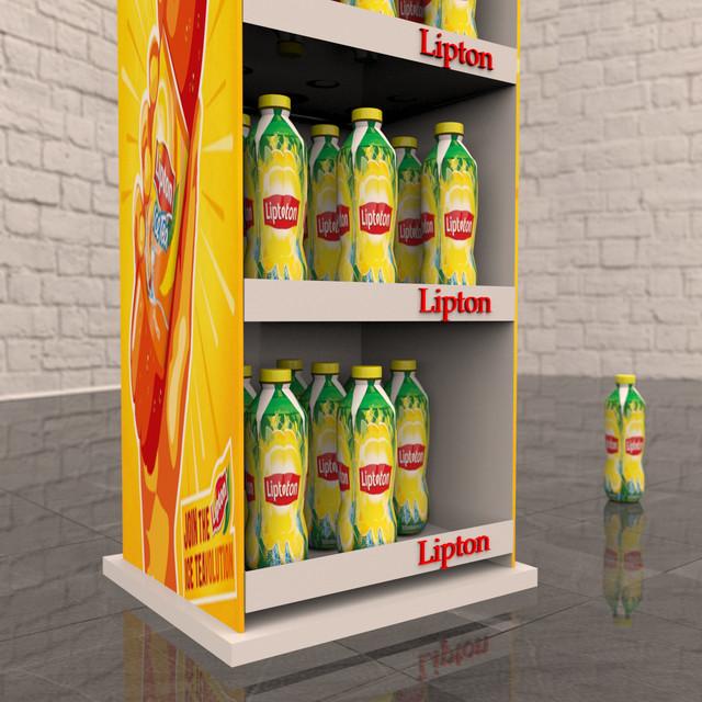 Стойка торговая Lipton
