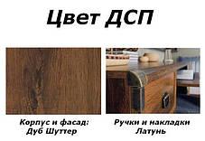 Тумба РТВ_JRTV_2s Индиана дуб шуттер (БРВ-Украина ТМ), фото 2