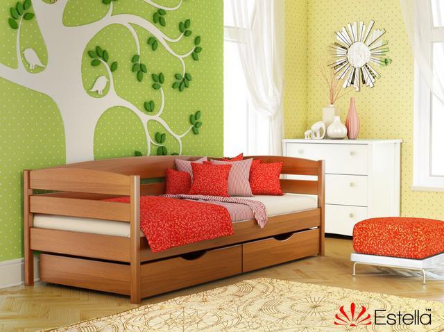 Кровать Нота Плюс цвет №105 Ольха (Бук Массив). Массив бука по прочности и твердости мало уступает дубу, но он обладает повышенным свойством дыхания.