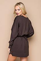 Женское платье свободного кроя с гипюром по низу (5024-5023 bej), фото 3