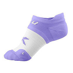 Женские невидимые носки 2XU WQ2406e (белый / аметист)