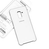Силиконовый чехол на Samsung Galaxy A6 Soft-touch Белый