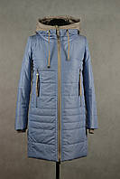 Куртка женская удлиненная  в трех цветах . 2XL, голубой