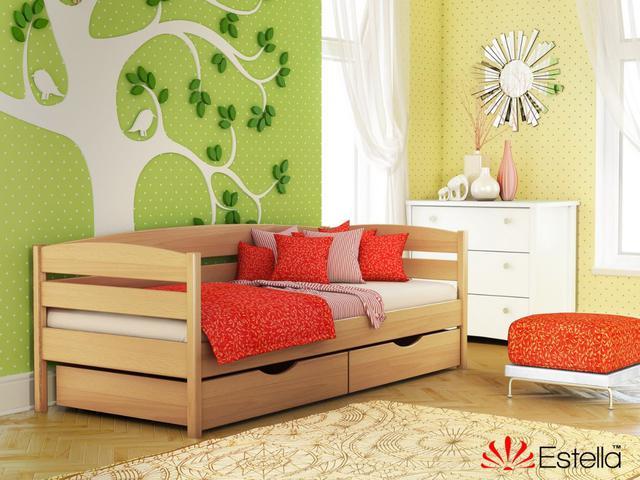 Кровать Нота Плюс цвет №102 Бук натуральный (Бук Массив)