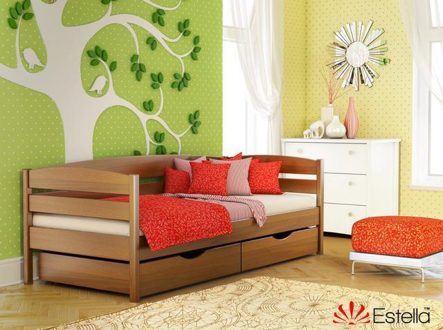 Кровать Нота Плюс цвет №103 Светлый Орех (Бук Массив)