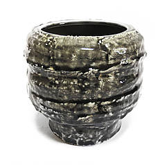 Вазон керамический PTMD 30 см Гранит (640132)