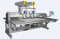 Вышивальная машина с совмещенным типом голов и с лазерной установкой.