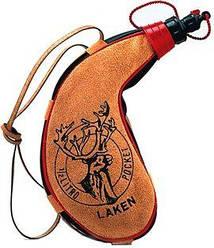 Laken Leather canteen 0,5 L kidney shape