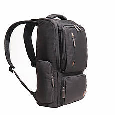 Рюкзак для ноутбука DUBYAO чёрный ткань полиэстер 28х46х12     ксС41ч, фото 2