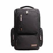 Рюкзак для ноутбука DUBYAO чорний тканина поліестер 28х46х12 ксС41ч