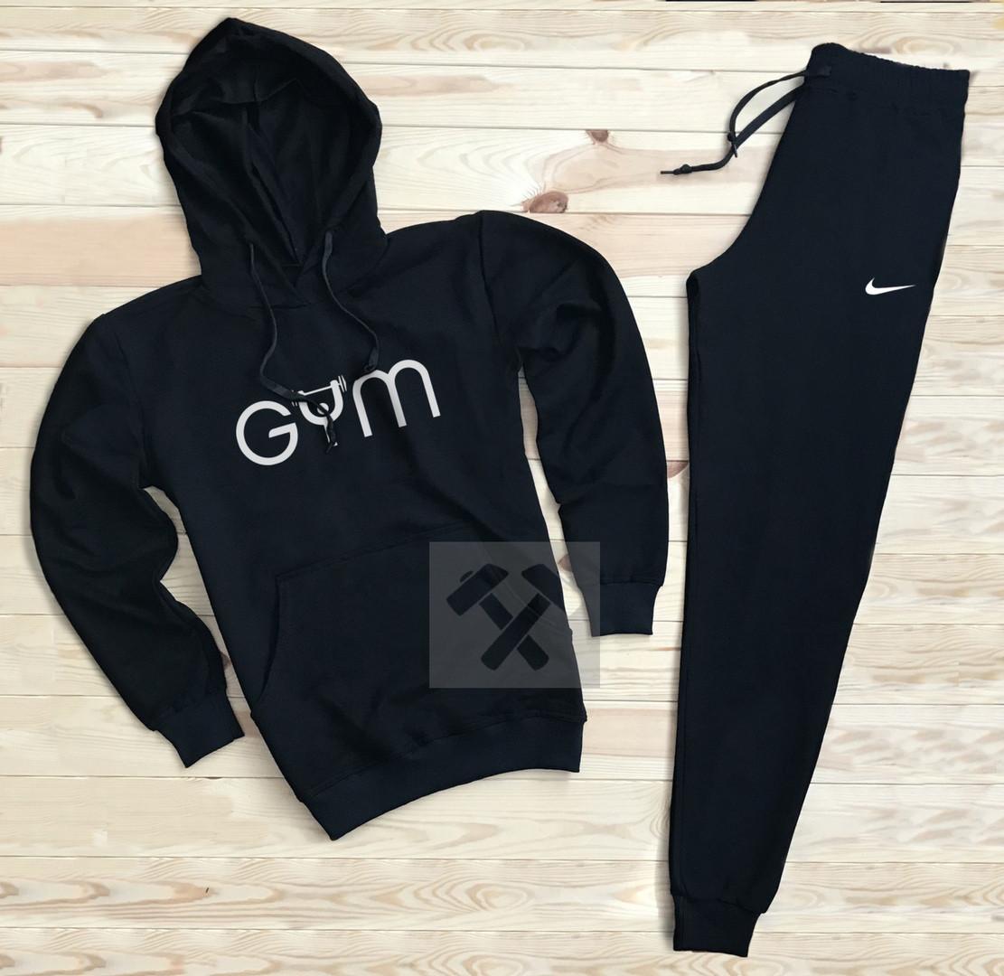 Костюм спортивный Gym x Nike черный топ реплика