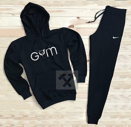 Костюм спортивный Gym x Nike черный топ реплика, фото 2