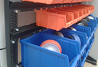 Стеллаж АТМ1 (9 шт ящиков №703, 9 шт ящиков №702, 6 шт ящиков 701). Цветные ящики, фото 1