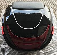 Кофр багажник пластиковый с шлемом черный
