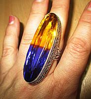 Срібний перстень з аметрином 17.3 розміру від LadyStyle.Biz