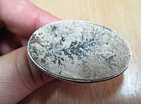 """Необычное колечко с  псиломелан дендритом """"Дерево в овале ,размер 19.6, фото 1"""