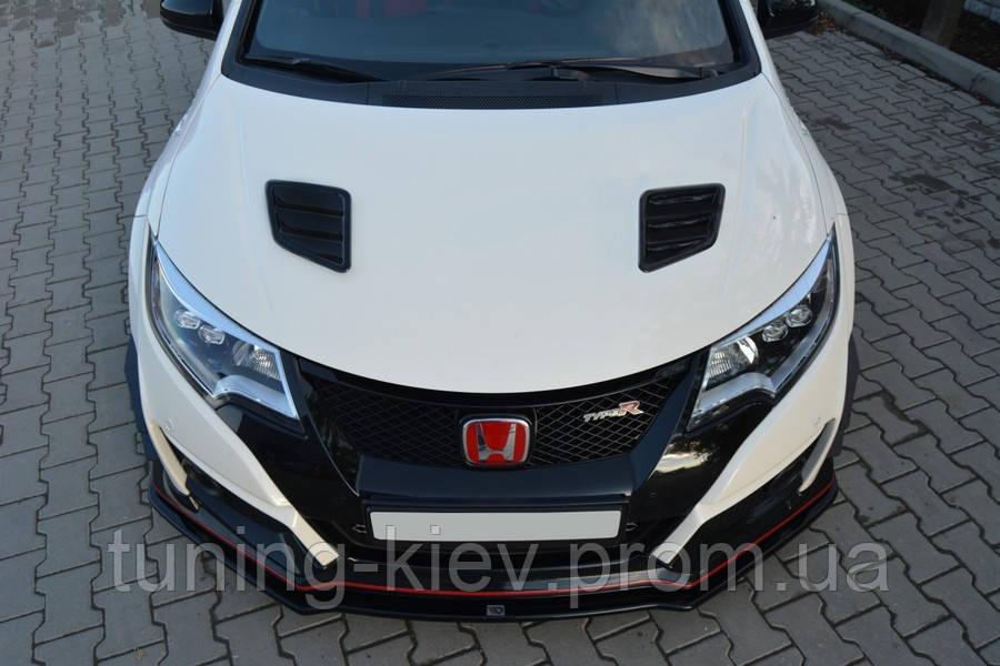 Накладки на капот Opel Corsa D/Ford Focus III RS/Ford Fiesta mk7 ST (послерест.)/Honda Civic IX Type R