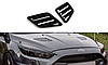 Накладки на капот Opel Corsa D/Ford Focus III RS/Ford Fiesta mk7 ST (послерест.)/Honda Civic IX Type R, фото 10