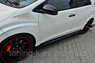 Накладки на пороги Honda Civic IX Type R