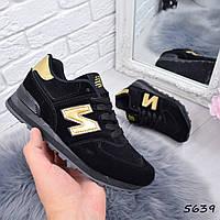 Кроссовки женские N черные 5639 , спортивная обувь, фото 1