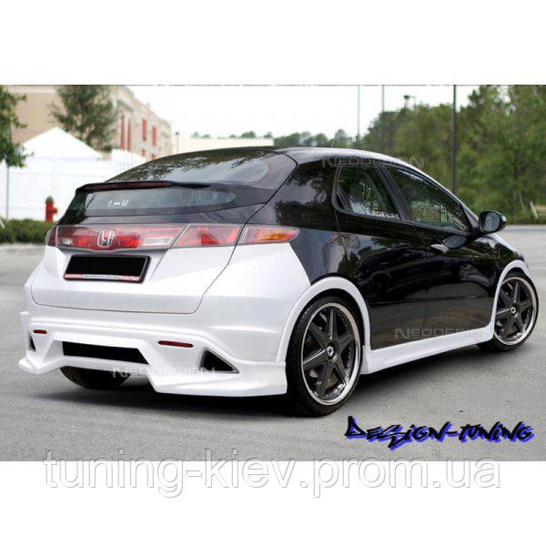 Накладки на пороги Honda Civic VIII