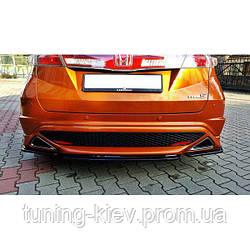 Центральный диффузор заднего бампера Honda Civic VIII type S/R