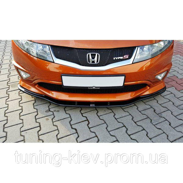 Диффузор переднего бампера Honda Civic VIII type S/R