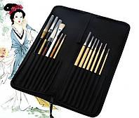 Подарочный набор с чехлом для художественных работ (13 кистей )