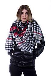 Шарф женский Bruno Rossi 135 х 130 см Комбинированный (160 red-black)