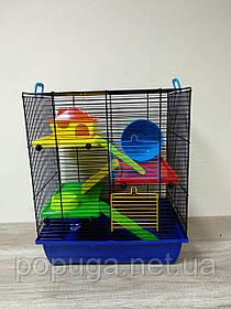 Клетка для грызунов, эмаль GINO 2+ PLASTIC InterZoo 42*29*49 см