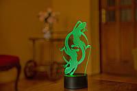 """3D светильник ночник """"Саламандра""""  оригинальный подарок прикольный"""