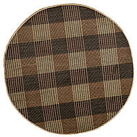 Шерстяной  пакистанский ковёр ручной работы.  Стиль модерн. Габба.  Шерсть + Шёлк. Диаметр 2470мм.
