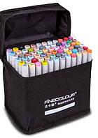 Маркеры для скетчинга «FINECOLOUR» 72 цвета. Набор для дизайна интерьера