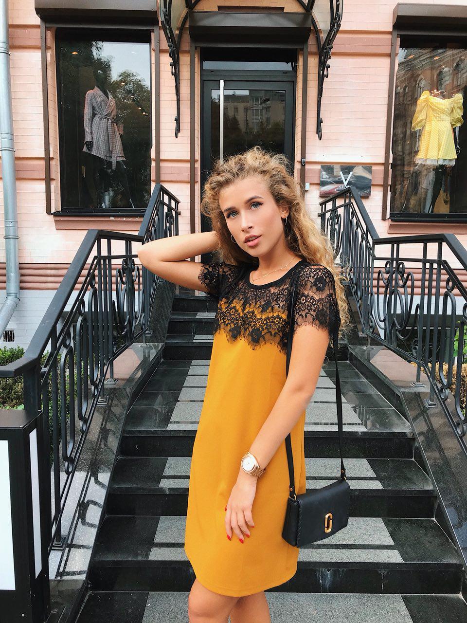 3c86d8b7089f413 Красивое недорогое платье горчичного цвета, цена 380 грн., купить в ...