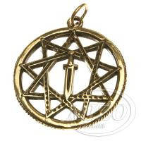 Кулон из бронзы «Звезда Инглии с мечом Перуна»