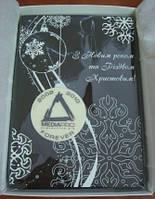Эксклюзивная поздравительная картина из шоколада с логотипом компании