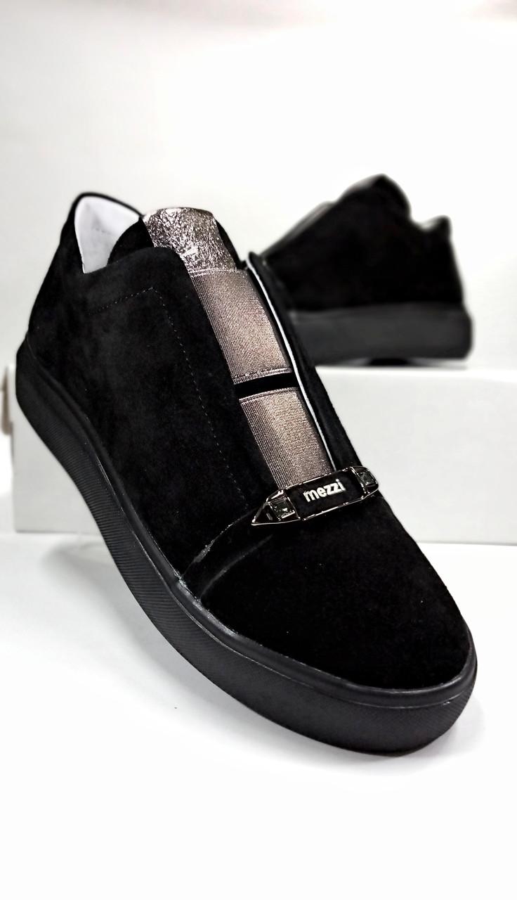 Женские кроссовки на резинке замшевые Ditas 114