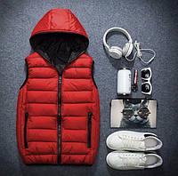 Мужская стильная  жилетка осень- зима красная, фото 1